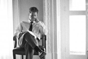 Greg Kinnear sitting pensively - The Kennedys