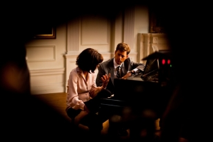 Greg Kinnear and Katie Holmes at the piano - The Kennedys