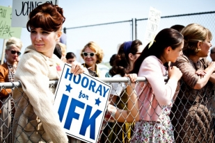 JFK rally - The Kennedys